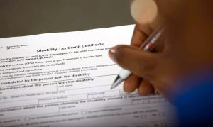 Canada's disability tax credit form